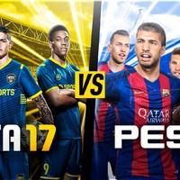 16年实况粉谈PS4上的实况2017和FIFA17