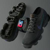 深空灰配色:NIKE 耐克 发布 Apple Watch Nike+ 3 和 Air VaporMax 特别版跑鞋