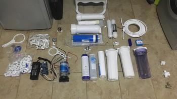 DIY超滤+RO反渗透双出水净水器,附配件清单
